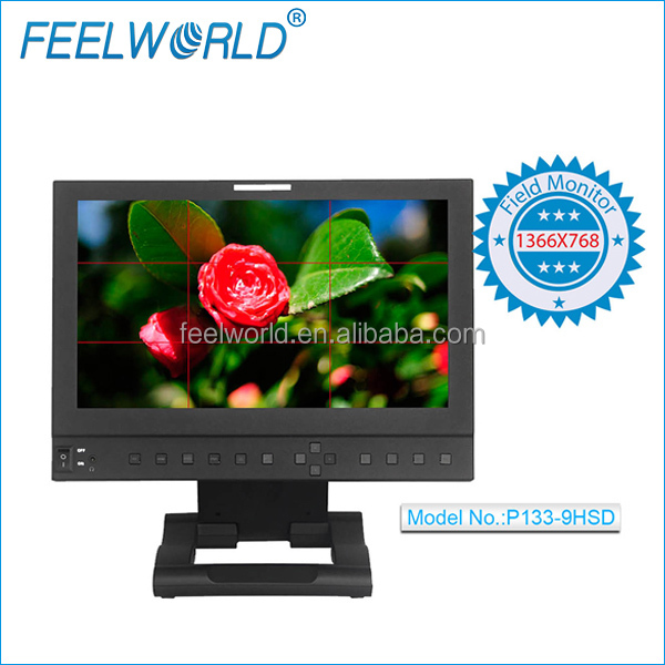 FEELWORLD Full HD SDI 1366x768 resolution 13 inch LCD Monitor for professional broadcast