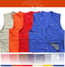 100% Cotton New Design Sleeveless Custom Mens Canvas Working Vest