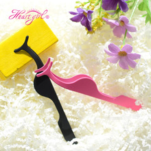 Wholesale Custom Label available Stainless Steel Gold Mink Eyelash Tweezers