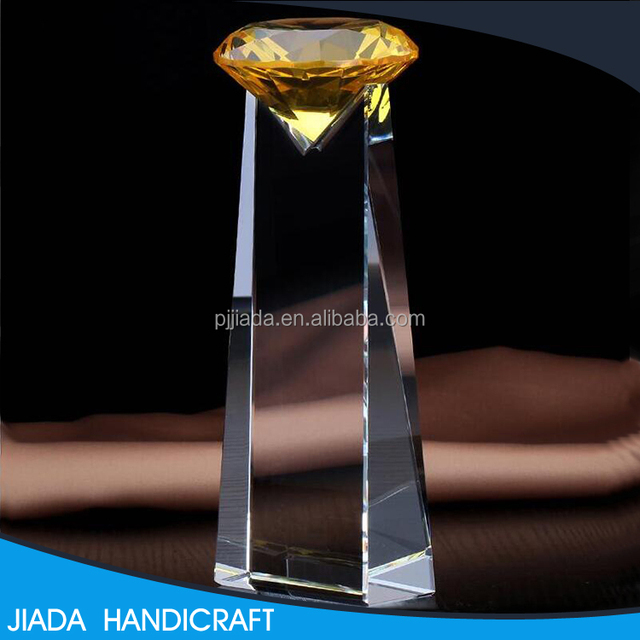 Cheap diamond shape blank crystal trophy souvenir gift