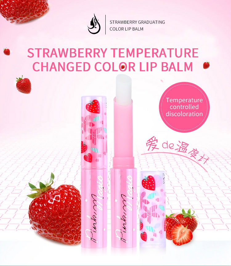 Private Labels Lip Balm StrawberryTemperature Changed Lip Balm Color
