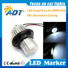 Popular and hot selling LED Angel Eyes CE E-Mark E4 10W Super Canbus New Model LED Marker Angel Eyes for BMW E39 facelifted