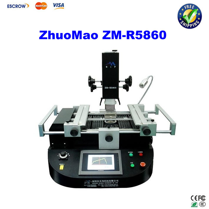 Freeshipping! ZM-R5860 bga rework machine automatic infrared +hot air BGA rework station