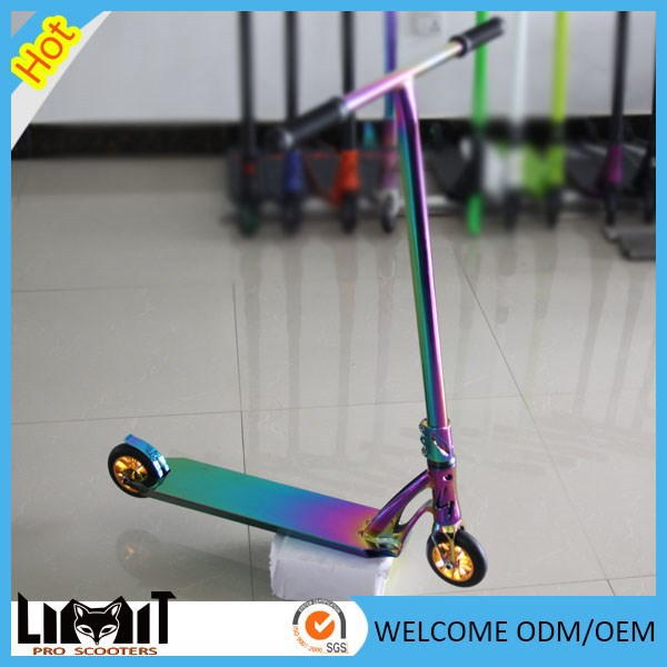 Hot selling new neo-chrome scooter freestyle Aluminum stunt kick scooter