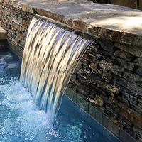 Landscape artificial LED waterfall,Pond spillway waterfall fitting