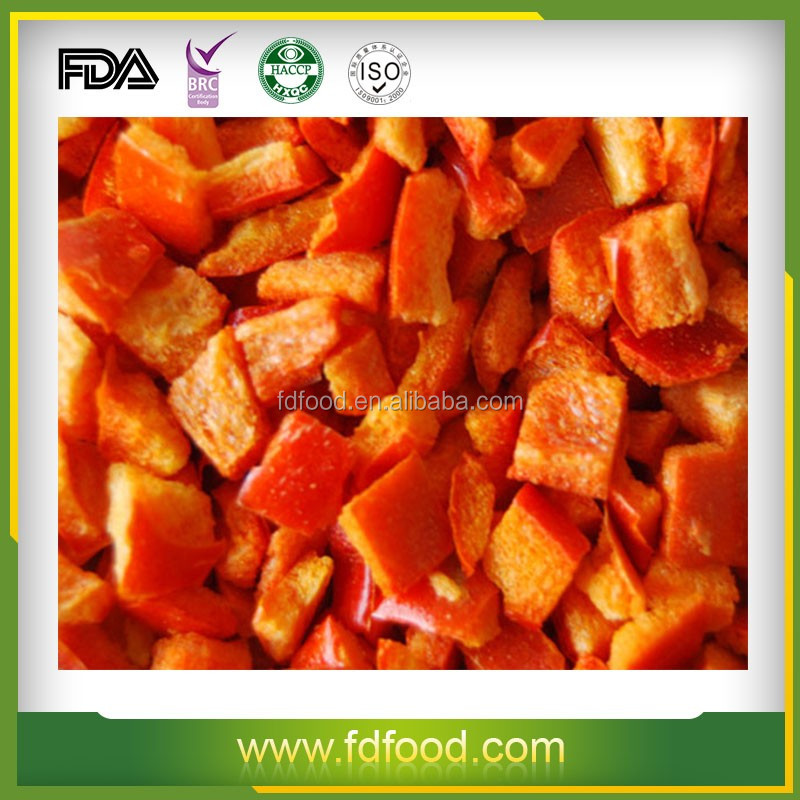 Cheap Price FD Fruits and Vegetables Natural Freeze Dried Red Bell Pepper