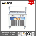Hot Selling 2017 Thailand Style Roll Fry Ice Cream Machine With Flat Table Of Double Square Pans Five Holes