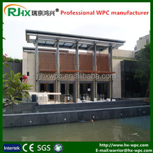Wood plastic composites prefab house/wpc decking wooden house