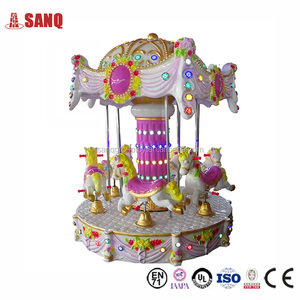 2017 China Made fiberglass carousel horse kiddie rides with Good Price