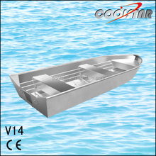 14ft New-designed aluminium boat for recreation