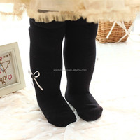 hot sale fashion style infant black tights for girls