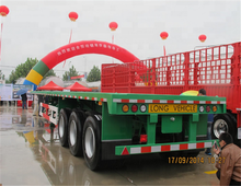 2018 China Factory Price Tri-axle 60 Ton 40ft Container Flatbed Truck Trailer / Semitrailer / Container Semi-trailer