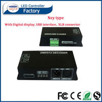Digital display 3 channel dmx led driver music ir controller 44