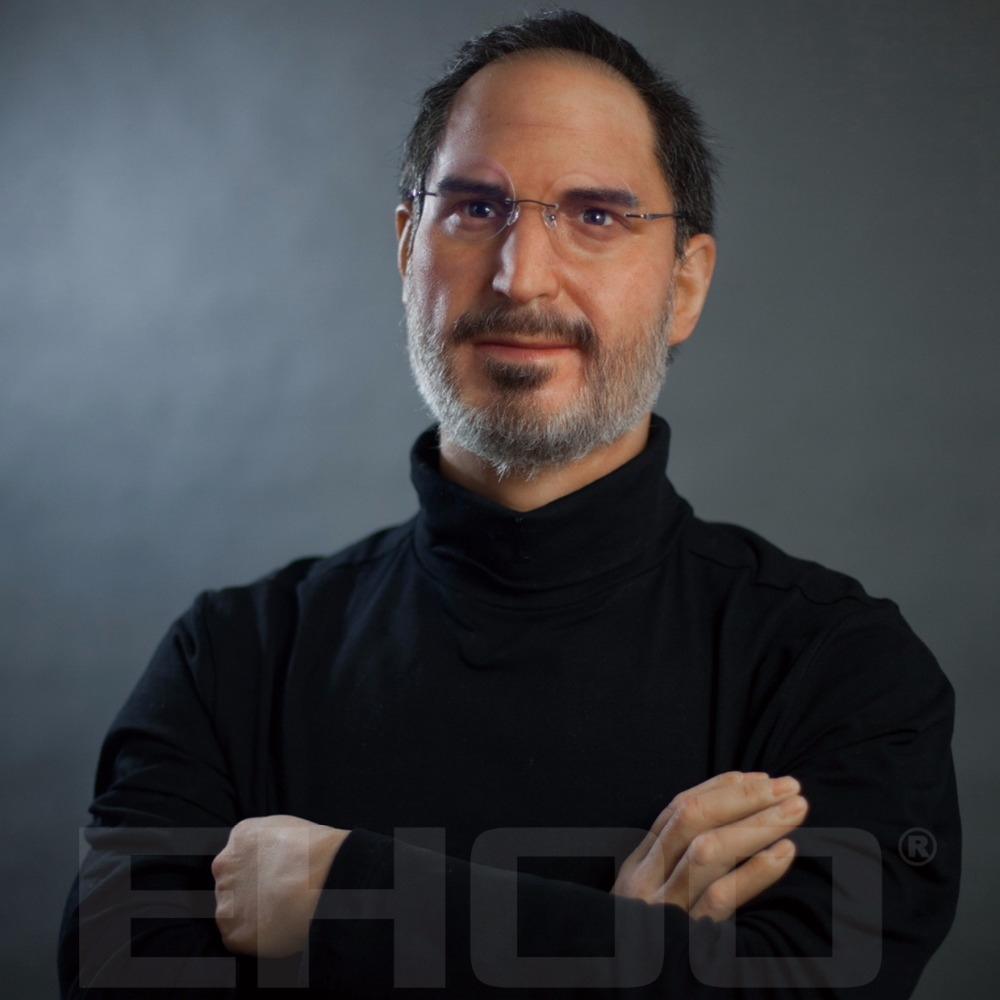Super Realistic Steve Jobs Silicon Wax Figure for Sale