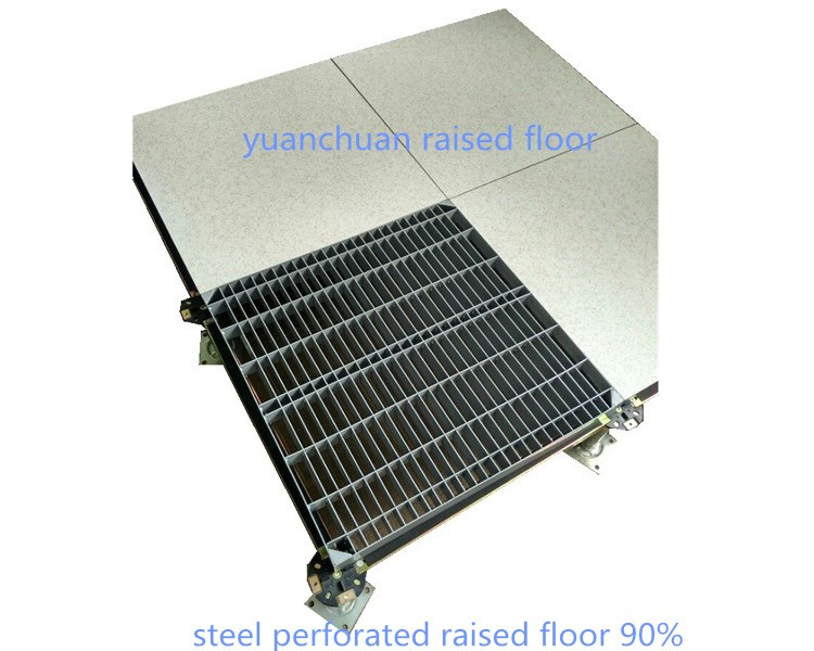 Anti-static ventilation access floor in all steel for computer room