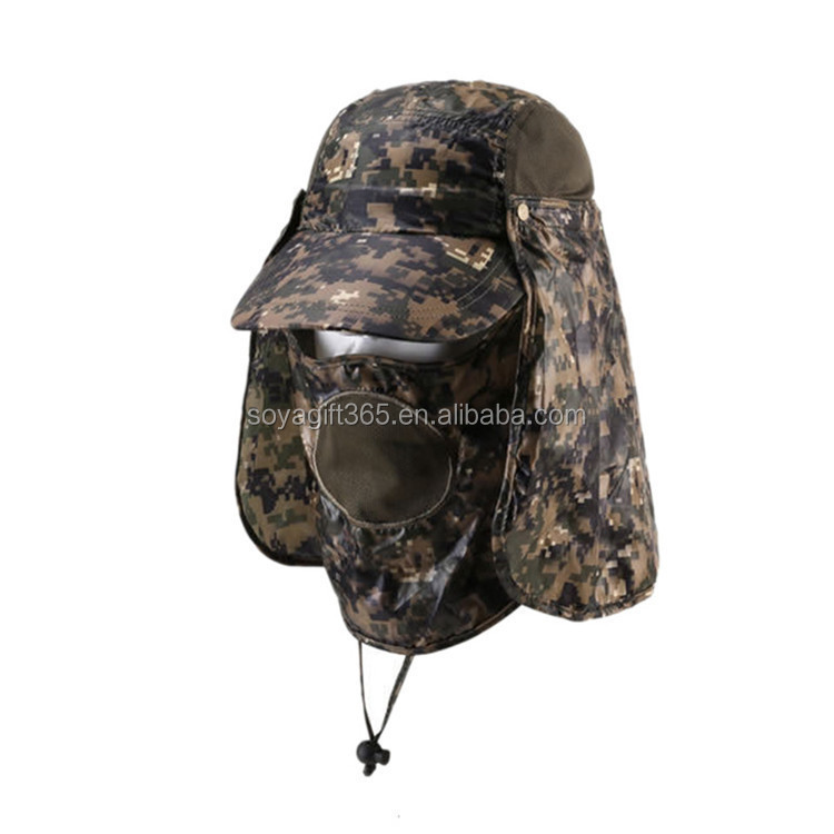 Men Bucket Sun Hat Camo Wide Brim Outdoor Fishing Hunting Cap Hats