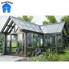 Outdoor insulating glass sun room prefabricated glass house sun room sun glass garden room