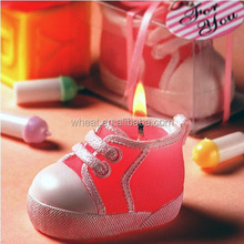 Baby Shower Bootie Sneaker Design Candle