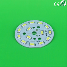 5730 5630 Led PCB Assembly, 50mm 14pcs 7W LED PCB Board Round Rigid Aluminum Base