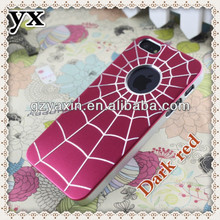 aluminum chrome hard case cover for iphone 5,fashion spider web cell phone case for iphone 5