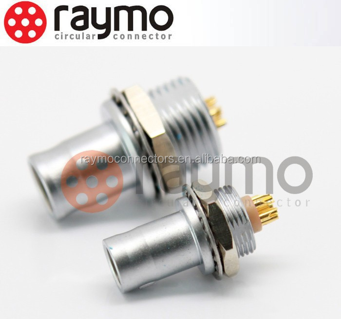 male female electrical circular push pull connectors FAG 0B/1B panel mounted type