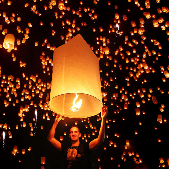 100% Biodegradable Paper Fireproof Luminary Flying Sky Lanterns