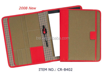 very fashion woman leather portfolio a4 folder