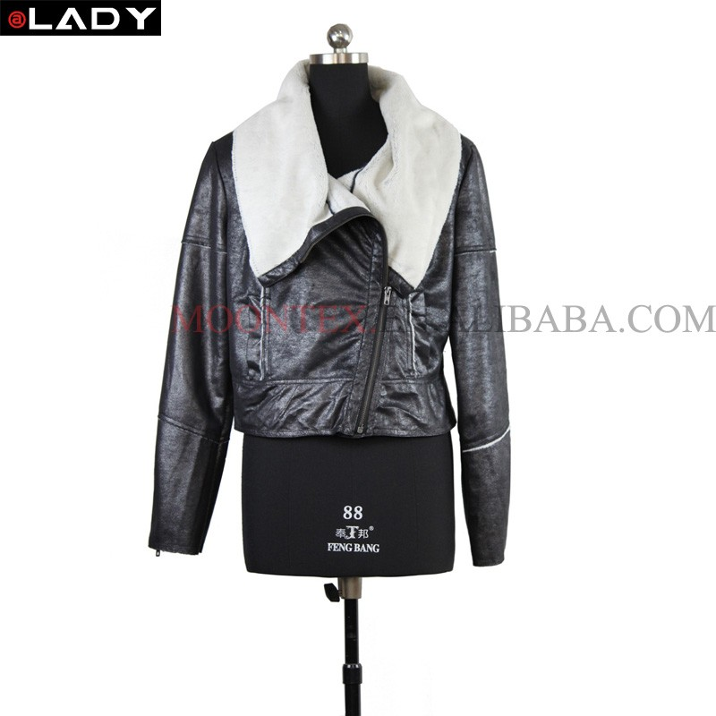 factory direct good quality leather jacket for women from china