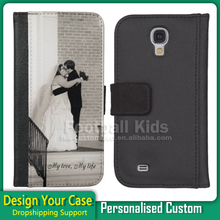 Free sample 2016 Fashion Product Custom Printed Flip Leather Case For Samsung S4 Case