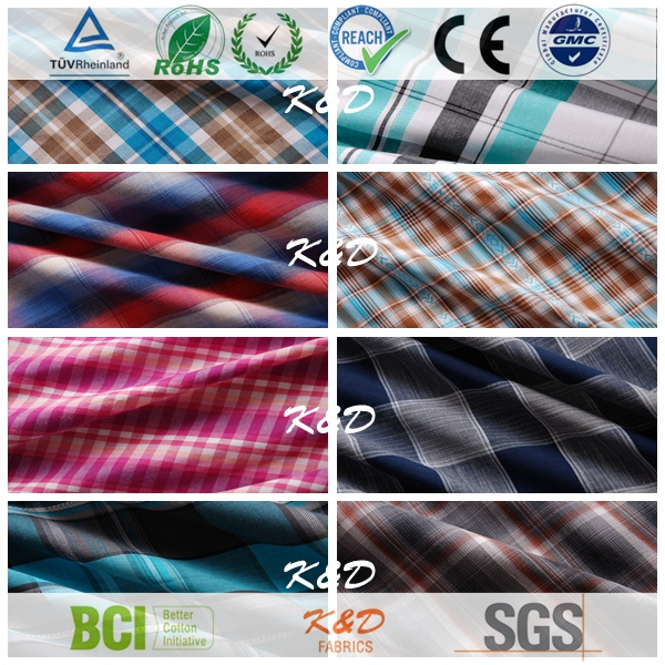 yarn dyed woven cotton check plaid online fabric store