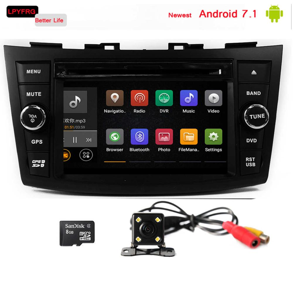 2 double din suzuki swift touch screen car stereo car dvd gps navigation system built-in 3/4G wifi accessories Dvr dvb-t dab+