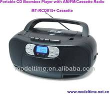 Portable CD Boombox Player with AM/FM/Cassette Radio