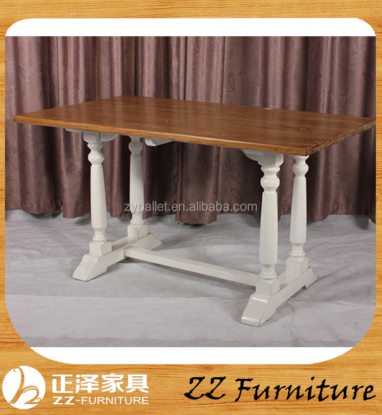 French provincial vintage solid wood dining table