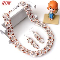 Vintage Model And Cheap Competitive Price For Necklace And Earrings Sets For Girls ,Latest Trendy Womens Jewelry Sets