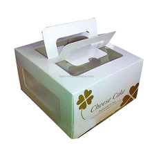 Colorful Printing Cupcake Packaging Box With Handle