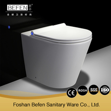 High end popular ceramic rimle wash down human toilet bathroom wc back to wall toilet
