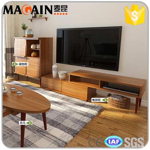 Modern MDF living room furniture Brown Simple MDF TV Stand