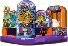 inflatable 5n1 scooby doo w/internal obstacle course