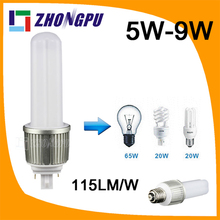ballast compatible and horizontal configuration G24 4 pins led Plug