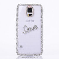 Glitter Case For SAMSUNG Galaxy S5 Clear Back Cover Case With Crystal Diamonds