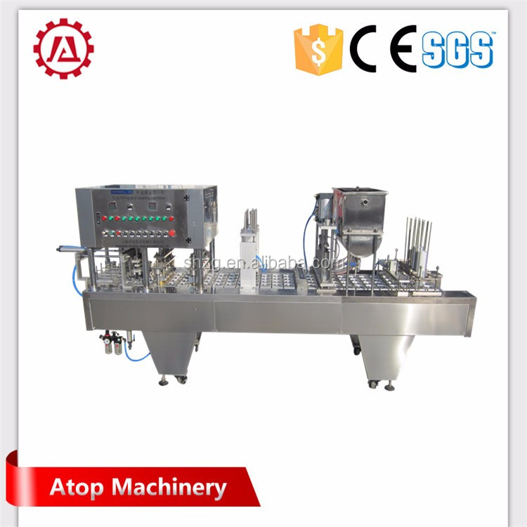 Automatic Curd Cup Filling and Sealing Machine for Dairy Products