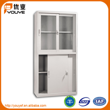 Foshan newest sliding door steel cupboard design