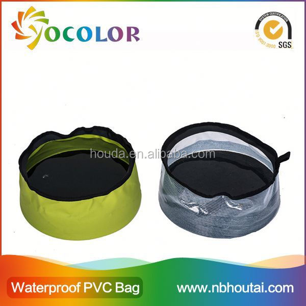 Flexible and foldable pvc tarpaulin Camping Bucket Folding Water Pail