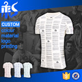 2016 Shandao Name Brand Custom New Design Mens White Short Sleeve O-Neck Digital Printing Slim Fit 180g 100% Polyester Tshirt