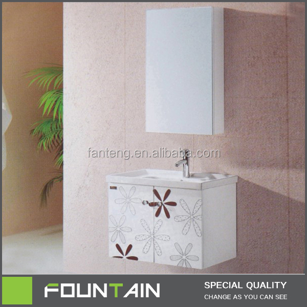 Modern Bath Mirrored Furniture Wash Glossing Carefully Design Well-built Bathroom Vanity