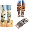 Limited Aztec Leg Warmers Long Luscious Warm Stretchy Colored Boho Leg Designs