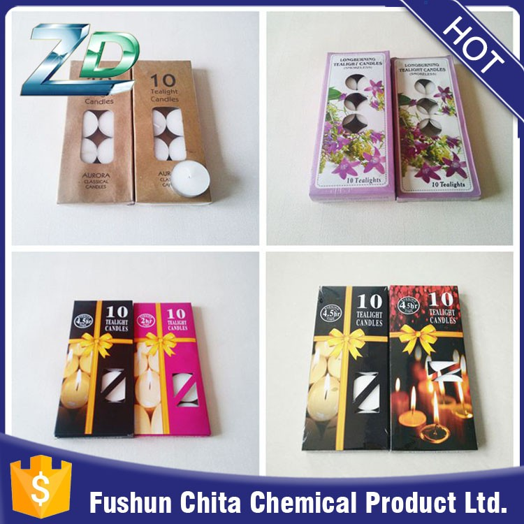 Paraffin Wax Material and Tea Light Type tealight candle in Alu box