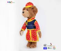 hot selling bear with tang shirt plush toys for baby toys manufacture Passed ICTI BSCI