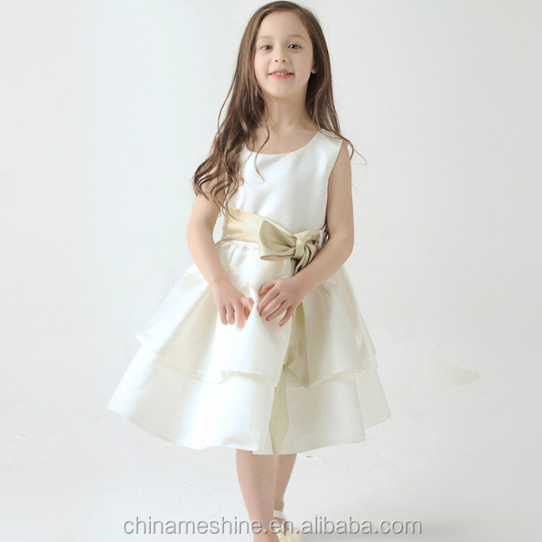 MS68733C fashion puffy kids sleeveless bridesmaid dresses for child