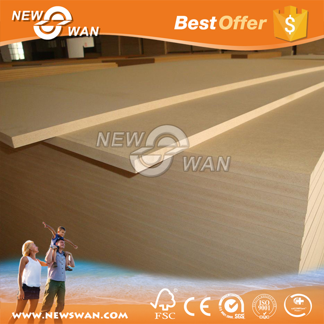 18mm Plain MDF Board / Raw MDF Sheet Prices